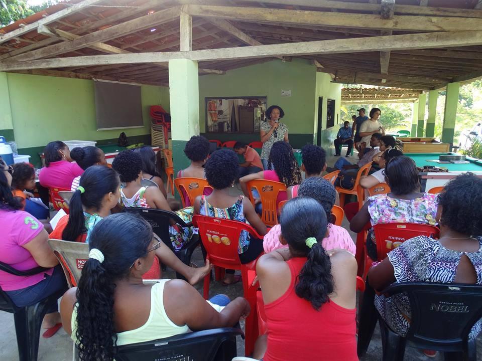 A pesquisadora, Rita Vieira, participa de curso de empoderamento e formação política. (Foto: Elaine Brito)