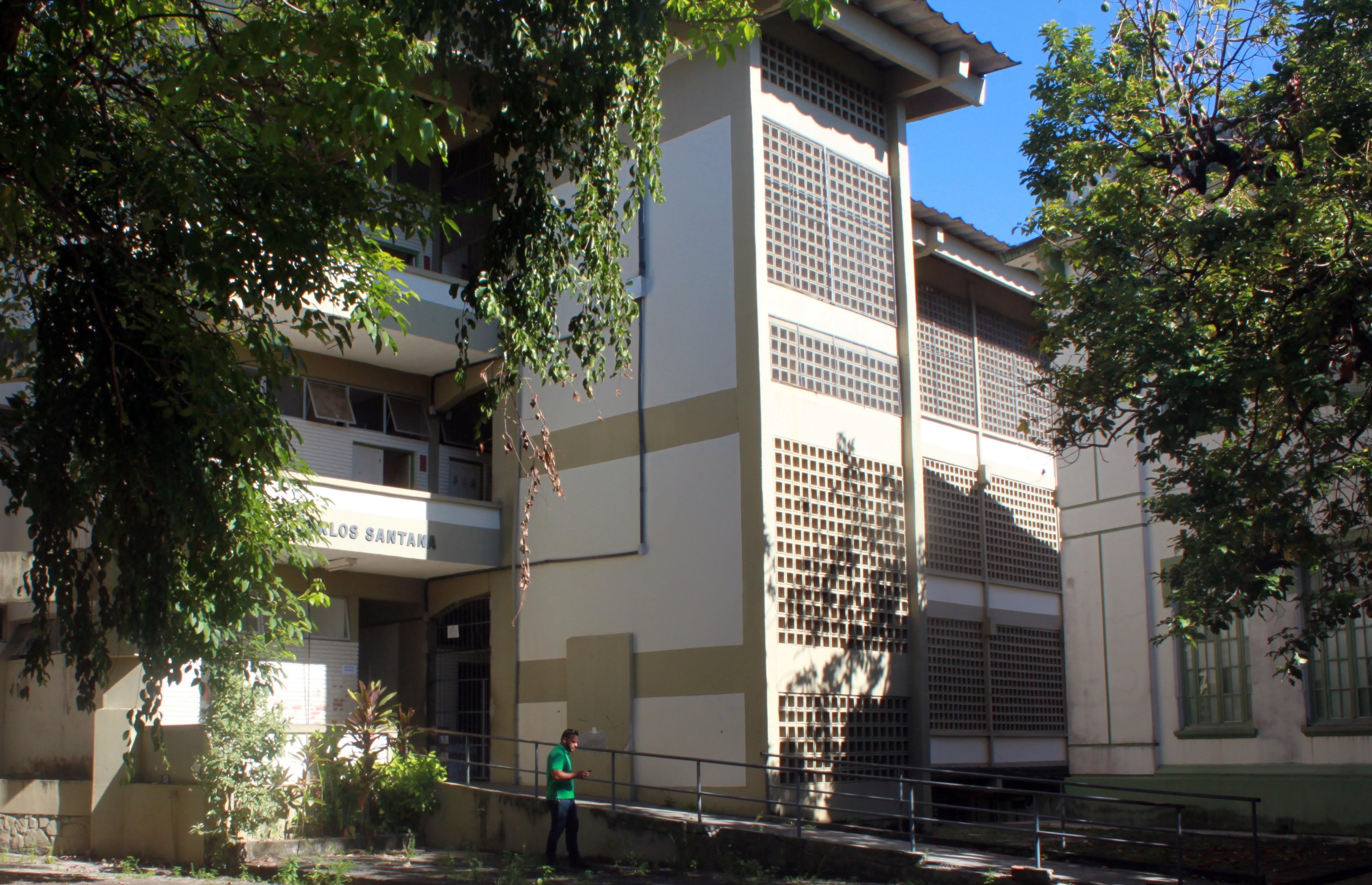 Pavilhão Carlos Santana, onde irá funcionar o Centro de Referência Dois Julho do IF Baiano.