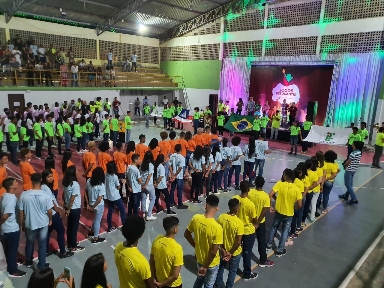 Abertura oficial dos Jogos Estudantis do IF Baiano em Catu.